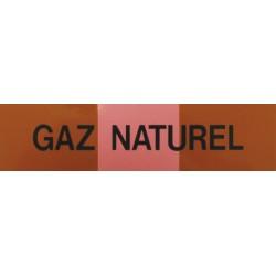 Etiquette gaz naturel 200x50x10mm paquet de 5 pièces Réf 215535 SELF CLIMAT