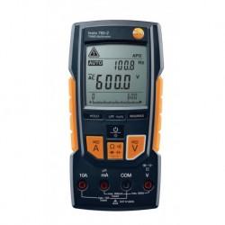 Multimètre TESTO 760-2 TRMS avec piles jeu de câbles de mesure adaptateur pour thermocouple K Réf 05907602