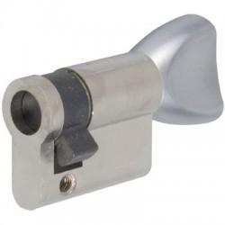 Demi-cylindre à bouton démontable Nickelé Stremler