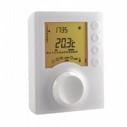Thermostat programmable filaire Tybox 117 J/H pour chauffage en mode confort/réduit à pile Réf 6053005 DELTA DORE