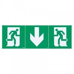 Kit de 3 étiquettes d'évacuation adhésives BAES Legrand