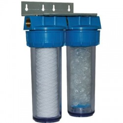 Filtre double anti-calcaire