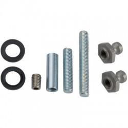 Kit de montage porte bois, métal ou pvc pour poignées inclinées STG Normbau