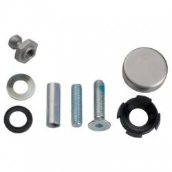 Kit de montage traversant portes bois, métal ou pvc pour poignée STG Normbau