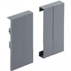 Jonction de face aluminium Advanced H70 mm (la paire) Hettich