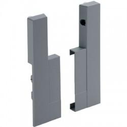 Jonction de face aluminium Advanced H144 mm (la paire) Hettich